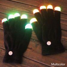 1 Paar Unisex LED Rave Blinkende Magische Handschuhe Glow Light Up Finger Licht