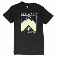 Element Mens T-Shirt Black Size Small S Crewneck Garson Print Graphic Tee 277