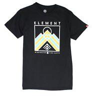 Element Mens T-Shirt Black Size Small S Crewneck Garson Print Graphic Tee 277