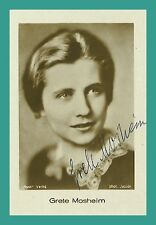 GRETE MOSHEIM | Schauspielerin | Original-Autogramm auf kleinem Ross-Starbild