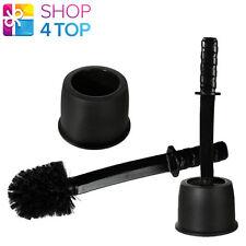 Samurai Sword Black Plastic Toilet Brush Bathroom Holder Home Clearn Novelty New
