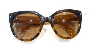 Pre-owned - Prada women's Sunglasses SPR 17O 54-22 FAL-1Z1 140 2N Havana Brown