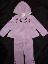 NWT GYMBOREE ~ WINTER PENGUIN light purple velour ruffle hoodie jacket pants 2T