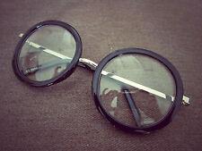 Harry Potter Black Round Oversized Metal Arm Fashion Glasses 60s 80s
