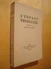 Doyon L'enfant Prodiguée 1927 EO 33/100 illustrée d'une pointe sèche de Drouart