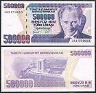 TURQUIA 500000 LIRAS AÑO 1970/1998 Pick # 212 SC UNC