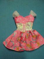 BARBIE  FASHION-PINK VALENTINE  DRESS-MATTEL