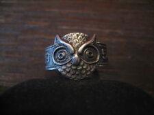ausdrucksstarker Ring Eule Uhu Silber Schlaraffia Unikat