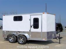 7x12 plus 2ft v 14ft toy hauler enclosed bike cargo motorcycle trailer Finished