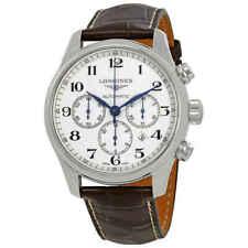 Longines Master Cronógrafo Dial blanco Automático de Colección Reloj para hombres
