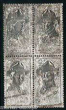 Congo Boy Scouts Baden Powell Silver Foil Block Perf Mint Nh