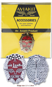 Lewis Leathers LEAVES Badge AVIAKIT Gold / Silver