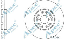 FRONT BRAKE DISCS (PAIR) FOR TOYOTA ALTEZZA GENUINE APEC DSK316