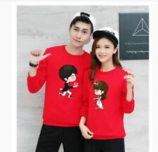 BOY AND GIRL COUPLE SWEATSHIRT JLH - COUPLE (RED)