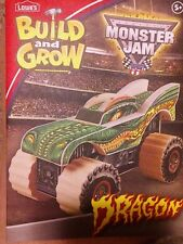 Lowes Build and Grow Monster Jam Dragon Truck Wood Kit With Patch!*