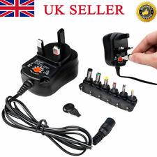 USB AC/DC Adaptor UK Power Supply+6 Tips 3V/4.5V/5V/6V/7.5V/9V/12V 30W Universal
