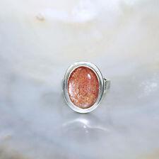 Sonnenstein Ring, 925er Silber, Edelsteinring (21427), Edelsteinschmuck