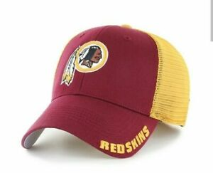Washington Redskins hat cap stretch fit OTS authentic NFL merch red yellow new