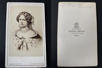 Jacotin, Paris, Comtesse de Chambord Vintage albumen print CDV.