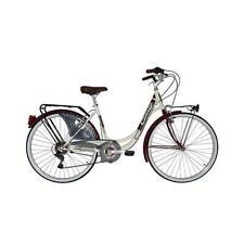 Velo city bike 26 liberty acier femme 6v creme/rouge fonce t44 - Cinzia