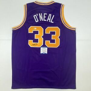 Autographed/Signed SHAQUILLE SHAQ O'NEAL LSU Purple College Jersey Beckett COA