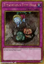 PGL3-EN036 Treacherous Trap Hole Gold Secret Rare 1st edition Mint YuGiOh Card