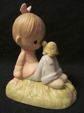 Nib Precious Moments Figurine # E1379R - Love is Kind ~20th Anniversary Event