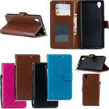 Wallet PU Leather Case Flip Stand Phone Case Cover Card Pocket for Sony Xperia