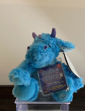Russ Shining Stars Sparkly Blue Dragon Plush Stuffed Animal Retired NWT