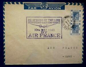 Old Stamp Hong Kong - Cover Par Avion - By Air France 1948