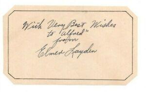 ELMER LAYDEN Autograph Signed Page Notre Dame Four Horseman Died-1973