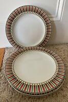 """Sakura SLEDDING CHARACTERS 10 7/8"""" Dinner Plates Set of 4"""
