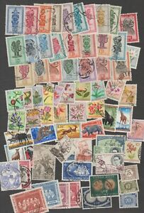 BELGIAN CONGO - Vintage Collection 1947 to 1958 (85 stamps)