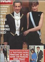 Hola Magazine Nicolas Sarkozy Carla Bruni Salma Hayek Wedding Charlie Sheen 2009