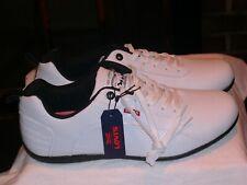 Levi's Golf Shoes Sylmar UL Perf.  #518847-02W, size 13M Men's White/Black NIB