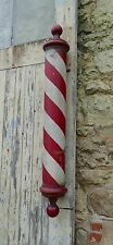 Rare English Wooden Barbers Pole Trade Shop Sign