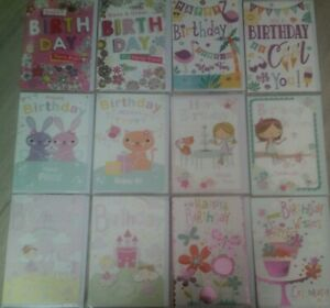 HAPPY BIRTHDAY CARD*FOR GIRL*FEMALE*CHOOSE DESIGN*CUTE*COLOURFUL*GREETING*