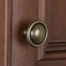 5583-AB - Cabinet Cupboard Dresser Hardware Round Ring Knob - Antique Brass