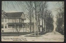 Postcard KENTLAND Indiana/IN  Carrol Street Large Family Houses/Homes view 1907
