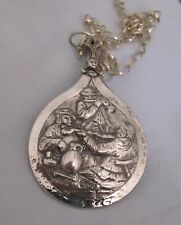 RECYCLED VINTAGE DUTCH SILVER SOUVENIR SPOON BOWL FEATURING MUSIC AT THE TAVERN