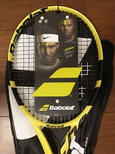 Babolat Aero G Strung Tennis Racket 102390 Yellow 4 3/8 Grip Racquet