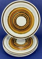 "Acsons Corona Orange Brown 10 1/2"" Dinner Plates  #1141 VG COND"
