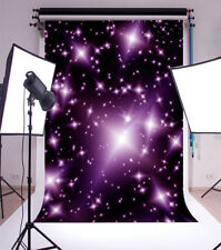 5x7FT Vinyl Photo Backdrops Purple Twinkle Starlight Photography Background