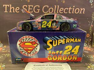 Jeff Gordon #24 1999 Superman DuPont NASCAR1:18 Revell Collection COA