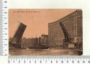 "11654) PC USA JAN 12 1910 ""Jack Knife Bridge, State Street, Chicago"" to Mantova"