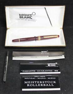 Montblanc Meisterstuck Rollerball Pen w/ Box - Burgundy