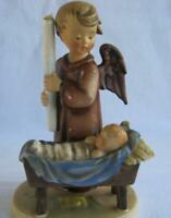 M I Hummel Goebel WATCHFUL ANGEL Porcelain Figurine Germany Mold 194 TMK2  AS IS