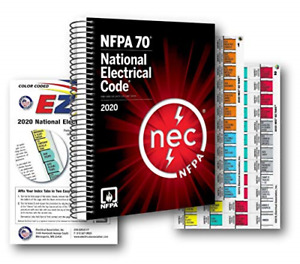 NFPA National Electrical Code NEC Spiralbound, with Color Coded EZ Tabs and 2020