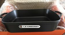 Le Creuset Signature Cast Iron Rectangular Roaster, 37 cm - Black