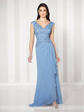 NEW CAMERON BLAKE Mon Cheri 216686 Formal PERIWINKLE BLUE Lace GOWN Size 20